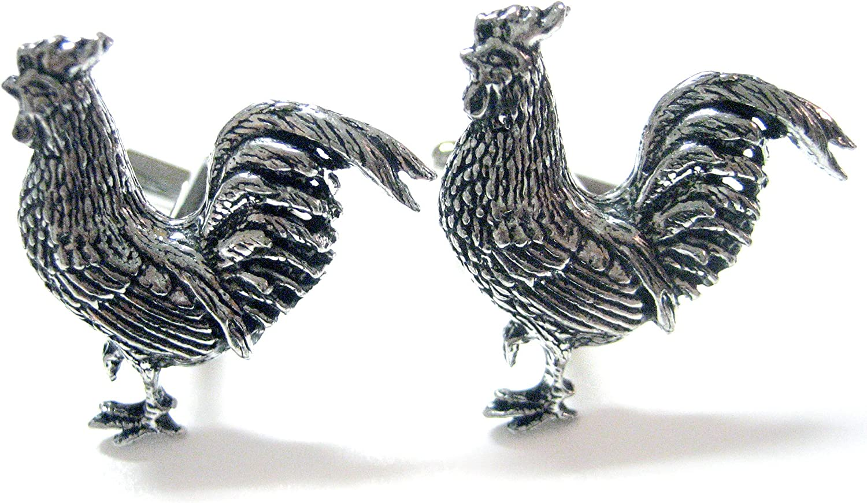 Kiola Designs Rooster Chicken Cufflinks