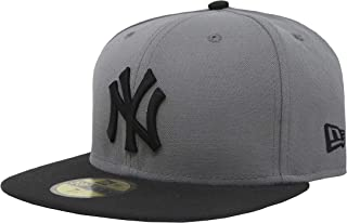 New Era 59Fifty Hat New York Yankees MLB Basic Storm Gray/Black Fitted Cap