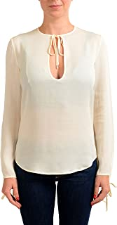 3557d7fc Dsquared2 Women's Ivory 100% Silk Long Sleeve Blouse Top US XS ...
