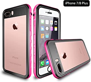 iPhone 8 Plus/iPhone 7 Plus Waterproof Case, UZER Shell Series Transparent Shockproof IP68 Certified 6.6ft Underwater Waterproof Snowproof Case for Swimming Diving Surfing for iPhone 8 Plus/ 7 Plus