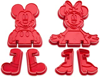 Disney Mickey and Minnie Mouse 3D Cookie Cutter Set Eats 465019448173