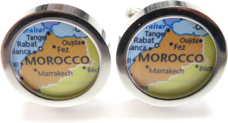 Kiola Designs Morocco Map Cufflinks