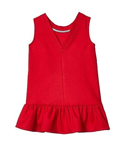 Vineyard Vines Kids V-Back Ponte Dress (Toddler/Little Kids/Big Kids) (Red Velvet) Girl