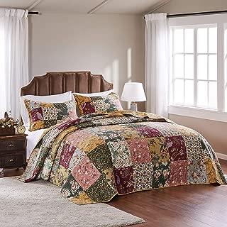 chenille design patchwork bedspread