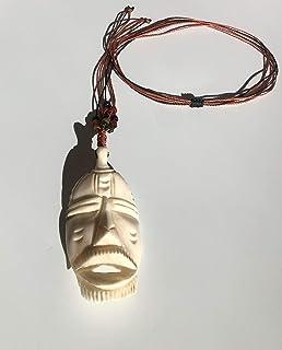 Ethnos Barcelona - Ciondolo maschera in corno africano.