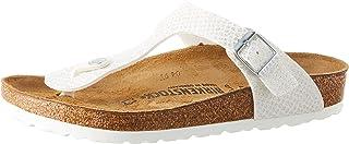 Birkenstock Unisex Gizeh, Silver Sandals