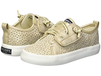 Sperry Kids Crest Vibe Perf (Toddler/Little Kid) (Champagne Perf Synthetic) Girls Shoes