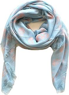 Da Donna Verde Acqua Blu bianco a fiori pashmina foulard Wrap idea regalo di Natale