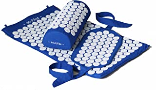 Acubliss 3-piece Acupressure Set Including Mat, Pillow, and Strap for Pain & Relaxation (Blue)