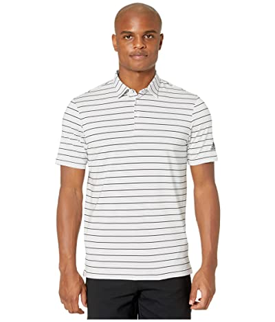 adidas Golf Ultimate365 Pencil Stripe Polo Shirt (White/Grey Three/Black) Men