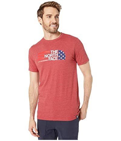 The North Face Short Sleeve Americana Tri-Blend Tee (Cardinal Red Heather) Men
