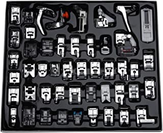 (48 Pieces) - Aiskaer Professional 48pcs Sewing Machine Presser Feet Set for Brother, Babylock, Singer, Janome, Elna, Toyota, New Home, Simplicity, Kenmore, and White Low Shank Sewing Machine