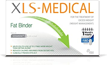 XLS-Medical Fat Binder Weight Loss Aid Tablets, 1-Month Supply, 180 Tablets