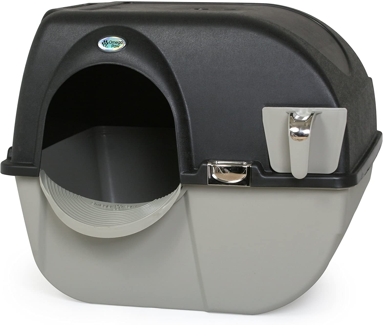 Omega Paw Now free shipping Elite Self Cleaning Fashionable Large Litter Box EL-RA20-1