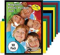 Magtech Moldura magnética de bolso para fotos, cores pops, comporta fotos de 10 x 15 cm, pacote com 10 cores sortidas (94610)