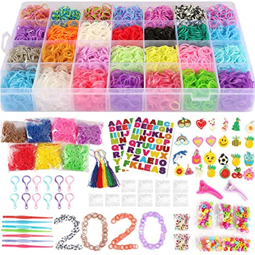 Rainbow Organizer Loom Kit With 5500 Rubber Bands.