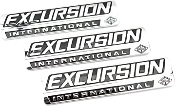 Truck Emblem Warehouse 3 New Custom Chrome 7.3L 6.0L Power Stroke Excursion Badges Emblems Set