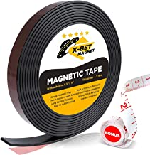 Flexible Magnetic Strip – 1/2 Inch x 10 Feet Magnetic Tape with Strong Self..