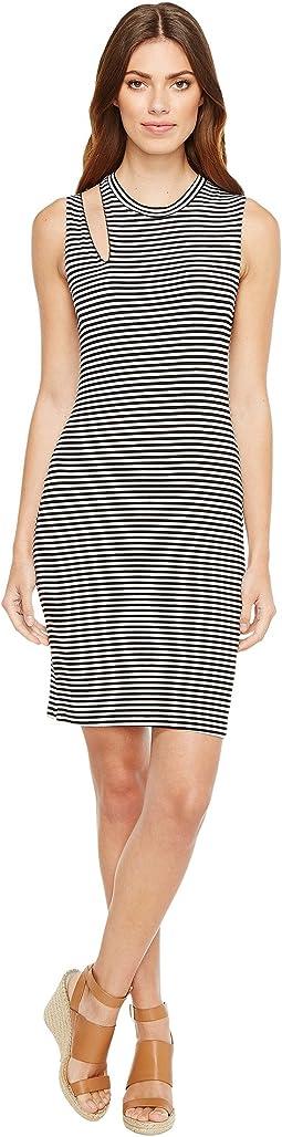 Stripe Single Slice Tank Dress
