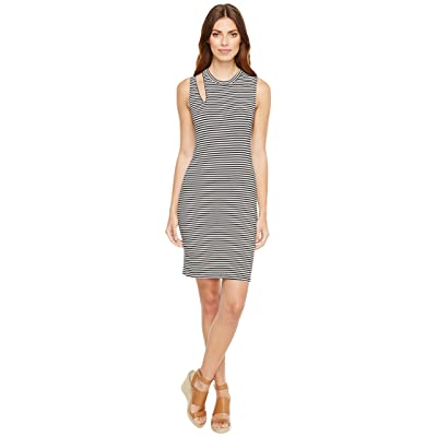 LNA Stripe Single Slice Tank Dress (Black/White Stripe) Women