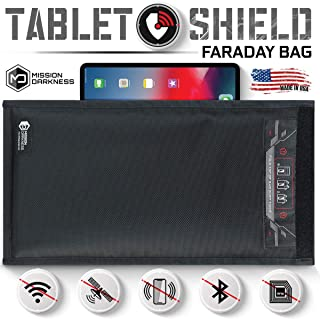 Mission Darkness Non-Window Faraday Bag for Tablets // Device Shielding for Law Enforcement, Military, Executive Privacy, ...