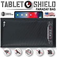 Mission Darkness Non-Window Faraday Bag for Tablets - Device Shielding for Law Enforcement, Military, Executive Privacy, EMP Protection, Travel & Data Security, Anti-Hacking & Anti-Tracking Assurance