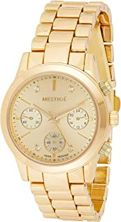 MESTIGE Womens Quartz Watch, Analog Display and Brass Strap MSWA3187