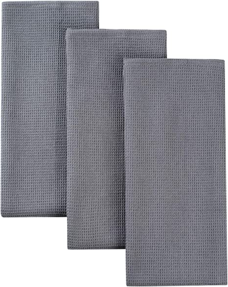 Amazon Com Classic Kitchen Towels 100 Natural Cotton The Best Tea Towels Napkins Absorbent And Lint Free Machine Washable 16 X 24 Inch 3 Pack Dark Grey Home Kitchen
