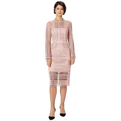 Bardot Mariana Long Sleeve Lace Dress (Vintage Rose) Women