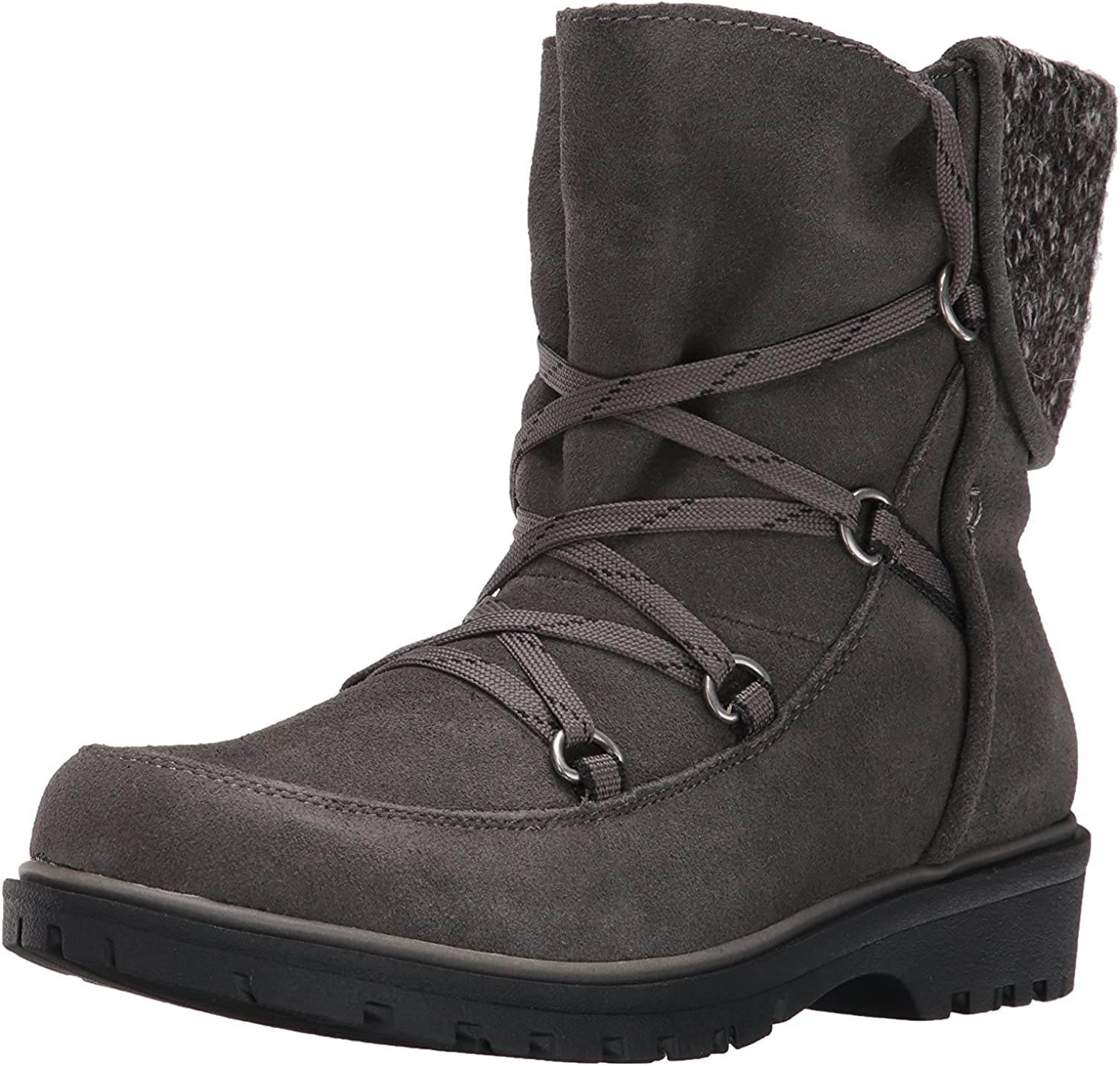 Bare Traps Womens Sharleen Leather Closed Toe Ankle Cold, Dark Grey, Size 5.5