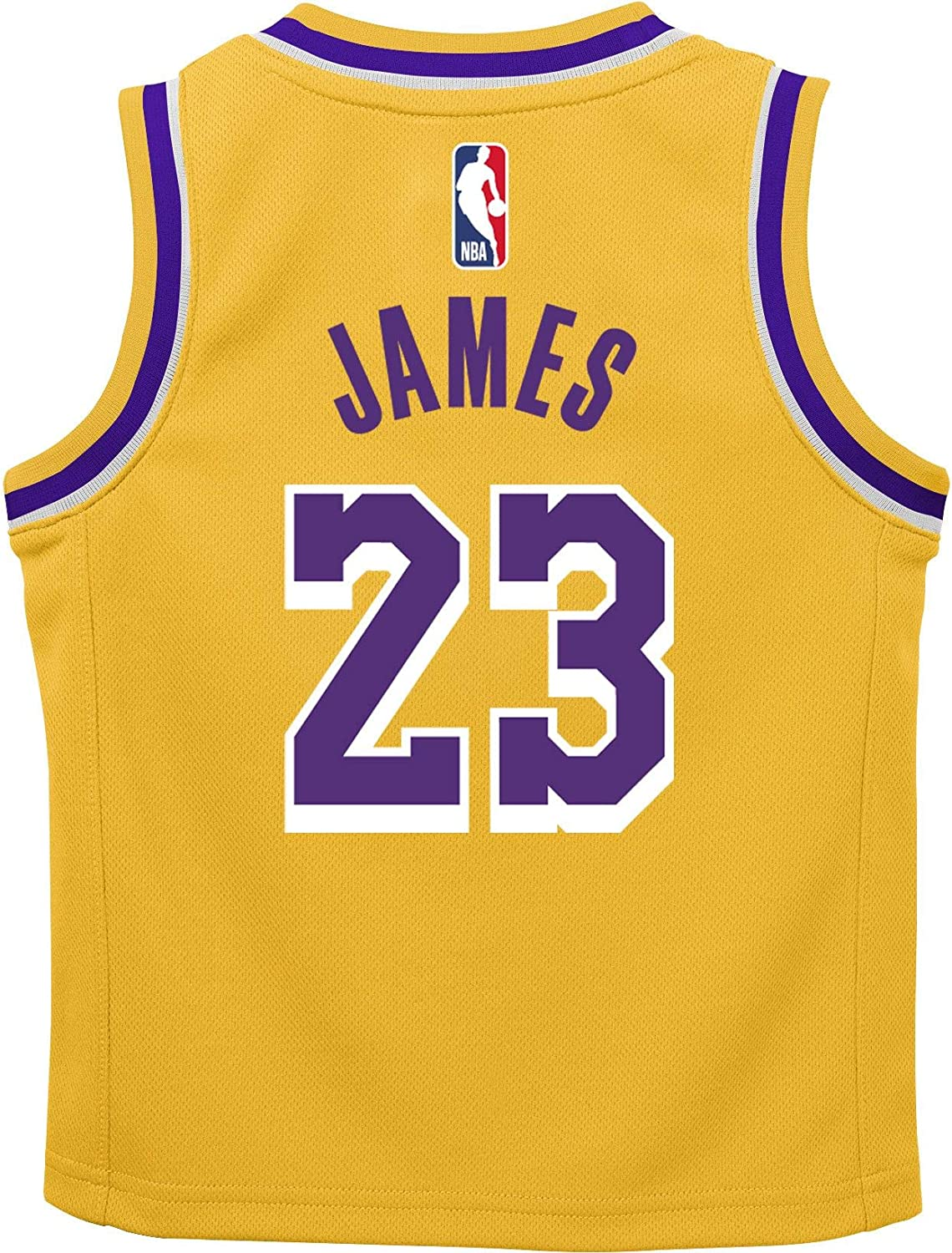 Buy OuterStuff Lebron James Los Angeles Lakers #23 Kids 4-7 Yellow ...