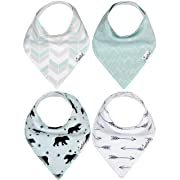 """Baby Bandana Drool Bibs 4 Pack Gift Set for Boys """"Archer Set"""" by Copper Pearl"""
