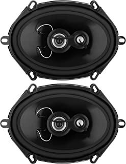 Planet Audio TRQ573 5 x 7 Inch Car Speakers - 300 Watts of Power Per Pair, 150 Watts Each, Full Range, 3 Way, Sold in Pairs