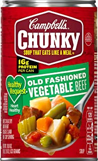 Campbell's Chunky Healthy Request Old Fashioned Vegetable Beef Soup, 18.8 oz. Can (Pack of 12)