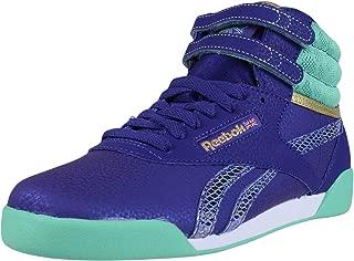 Classic Girls Freestyle Hi Fashion Sneakers Beacon Teal White V72763 SZ 5