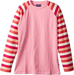 Toobydoo - Heather Tee w/ Stripe Sleeves (Toddler/Little Kids/Big Kids)