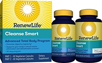 Renew Life Adult Cleanse - Cleanse Smart - 2-Part, 30-Day Program - Gluten, Dairy & Soy Free - 120 Vegetarian Capsules