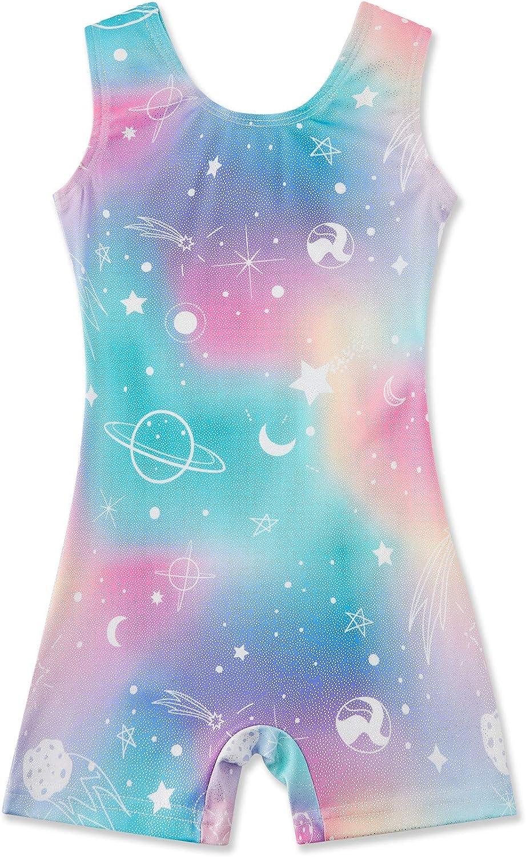 Louisville-Jefferson County Mall Max 53% OFF Gymnastics Leotards for Girls Mermaid Galaxy Sparkle 3D Leopard
