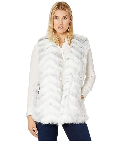 Via Spiga Multi Faux Fur Vest (White Zebra) Women