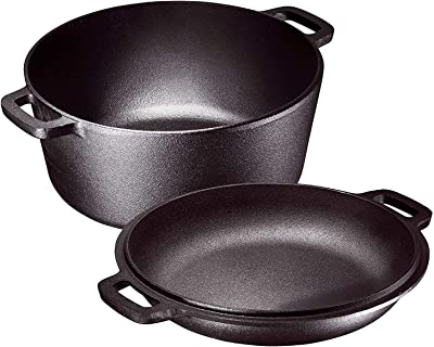 Pre-Seasoned Cast Iron Camping Dutch Oven - The best Camping Cookware For Family trips