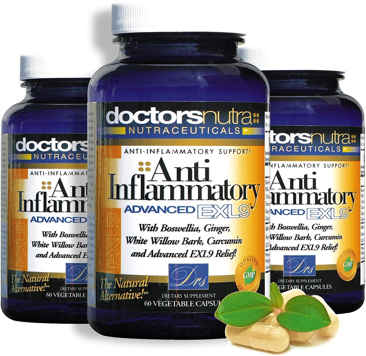 Pack of 3 Natural Anti-Inflammatory Max 69% OFF D Pain Support by Rare Advanced