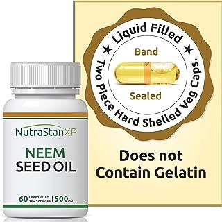 NutrastanXP Neem Seed Oil Supplement, 500mg (60 Vegetarian Capsules)