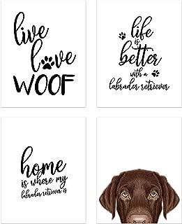 Summit Designs Labrador Retriever Wall Art Décor Prints – Set of 4 (8x10) Unframed Poster Photos – Dog Puppy Quotes