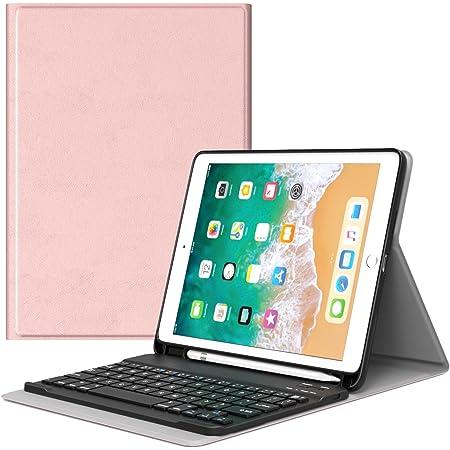 MoKo Funda para iPad 9.7 2018 Teclado, Cubierta con Soporte para Apple Pencil, Protector de Teclado Inalámbrico para Apple iPad 9.7 Pulgadas 2018 ...