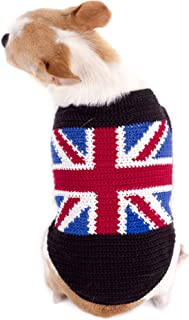 Tonimoz British Flag Dog Sweater, Union Jack Dog Clothes, Britain Flag UK Pet Clothes 89K