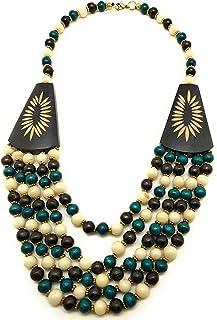 DCA Multicolor Wood Women Necklace