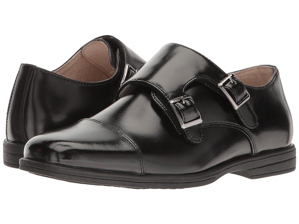 Florsheim Kids Reveal Double Monk Oxford (Toddler/Little Kid/Big Kid) (Black) Boys Shoes