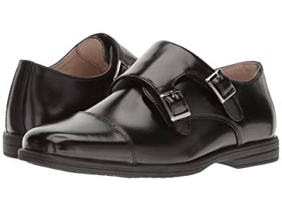 Florsheim Kids Reveal Double Monk Oxford (Toddler/Little Kid/Big Kid) (Black) Boys Shoes