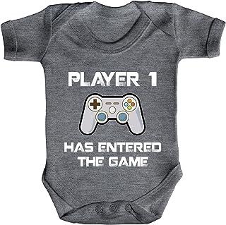 ShirtStreet Geek Nerd Gamer Strampler Bio Baumwoll Baby Body kurzarm Jungen Mädchen Player 1 has entered the Game