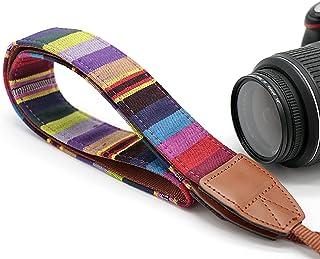 Vintage Weave Camera Neck Strap, Camera Shoulder Belt Strap, Classic Design, Compatible with Canon Fujifilm Nikon Olympus ...